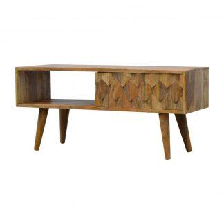 Amazing Solid Oak Finished Mango Wood Pineapple Hand Carved 1 Sliding Door Media Unit Available 13Th November Uwap Interior Chair Design Uwaporg