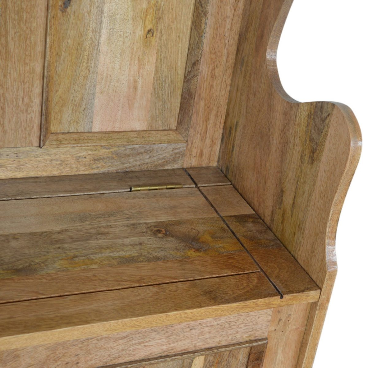 Solid Oak Finished Mango Wood Small Hall Storage Monks