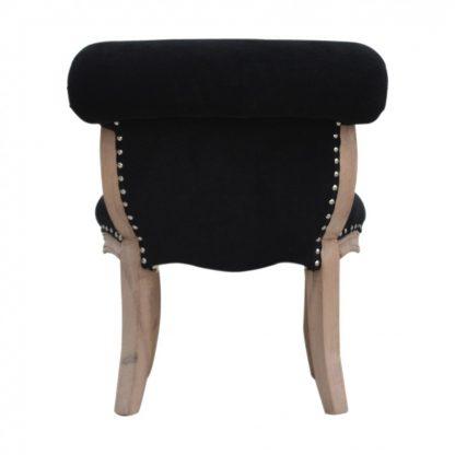 Fantastic Solid Mango Wood Black Velvet Studded Chair With Cabriole Uwap Interior Chair Design Uwaporg