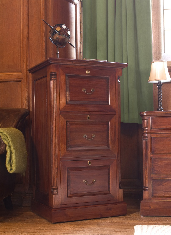La Roque Three Drawer Filing Cabinet - Mango Wood Furniture